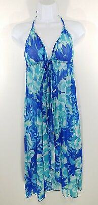 Victoria's Secret Women's Blue/White/Turquoise Babydoll Nightie Lingerie Sz-XS/S