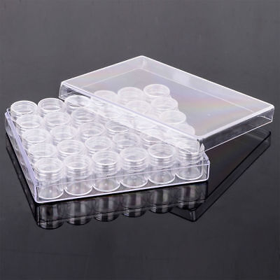 Cosmetic Small 30PCS Jewelry Box Plastic Clear Portable Container Storage Jars