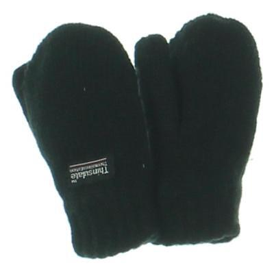 Thinsulate Black Knit Insulated Mittens S BHFO 0303