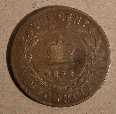 Newfoundland 1873  -- large cent - Nice Collectible Condition. Inv# P-137