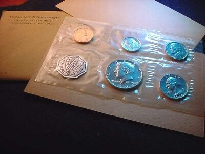 1964 Us Silver Proof Set 90% Silver Coins--No Reserve!  #253