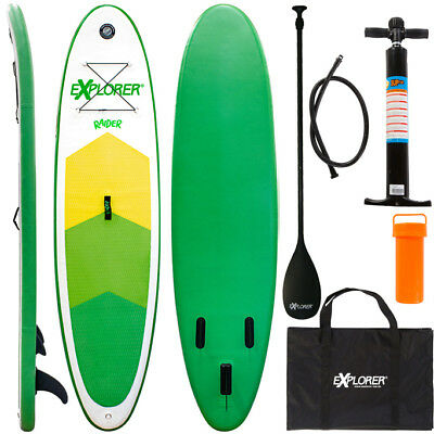 Explorer Stand Up Paddle Surfboard 300 Inflatable Paddel Pumpe Sup Isup Raider