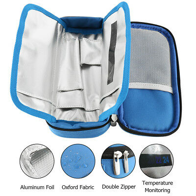 Portable Medical Travel Cooler Bag Insulin Cooler Case With 2 ice bags