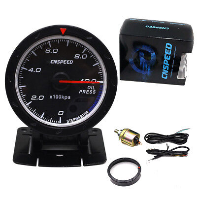 """2.5"""" Oil Pressure Gauges Electrical Auto Car Meter LED Glow Monitor Universal"""