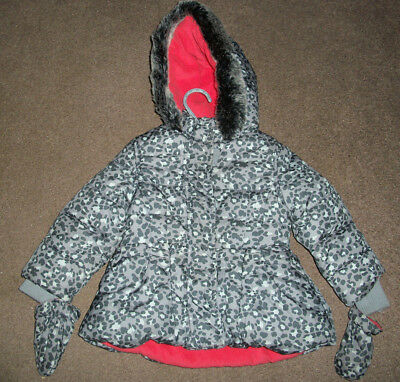 Baby girls grey hooded padded coat size 12-18 mths by M&S