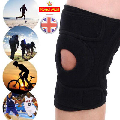 Black Useful Neoprene Adjustable Open Knee Patella Tendon Support Brace Sleeve