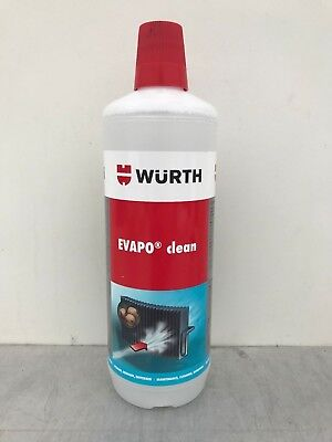 Wurth Evapo Clean 1L Air Conditioning System Cleaner With Desinfection Effect