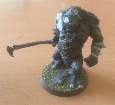 LOTR, Angmar, metal Hill Troll Chieftain Buhrdur, painted.