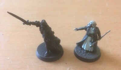 LOTR, Arnor, oop rare metal King Arvedui & Malbeth the Seer.