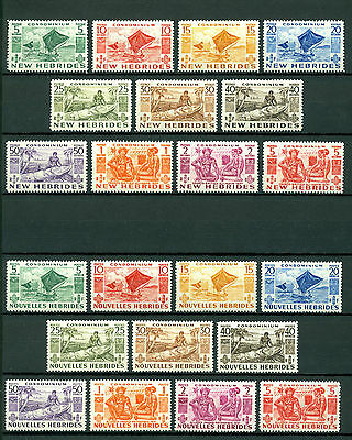 New Hebrides 1953, British & France, Nouvelles, SG68-76, SG81-91 MVVLH 473