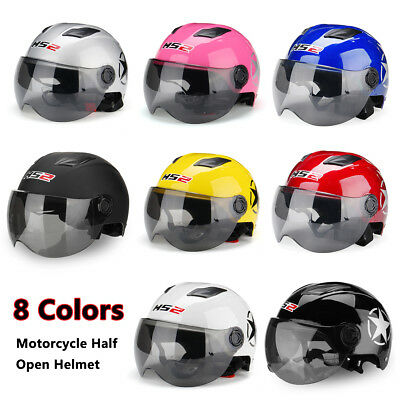 Universal Open Face Half Helmet With Sun Visor Goggles for Motorcycle Scooter