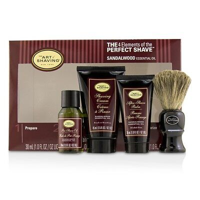 The Art Of Shaving The 4 Elements of Perfect Shave Mid-Size Kit Sandalwood 4pcs