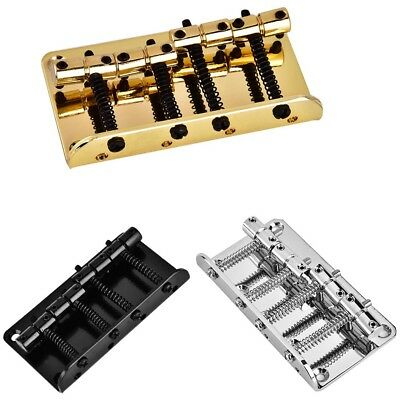 Metal Four-String Bass Bridge Precision for 4-String Electric Bass Guitar Parts
