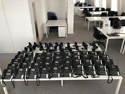 Complete 41 Handset Samsung Officeserv 7200 PBX System & some Wireless Headsets