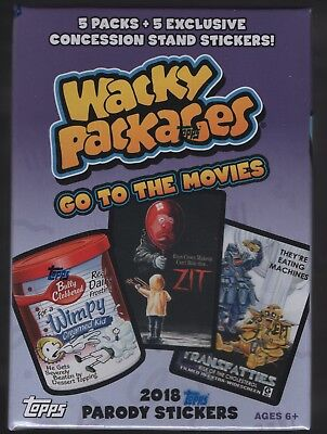IN STOCK 2018 Topps Wacky Packages Go To The Movies Factory Sealed Blaster Box