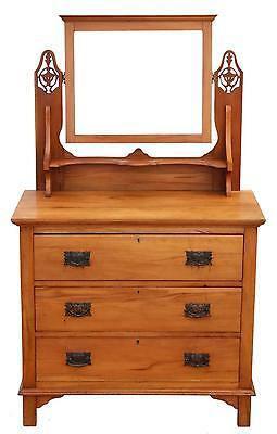 Antique C1910 satinwood dressing table chest of drawers Art Nouveau