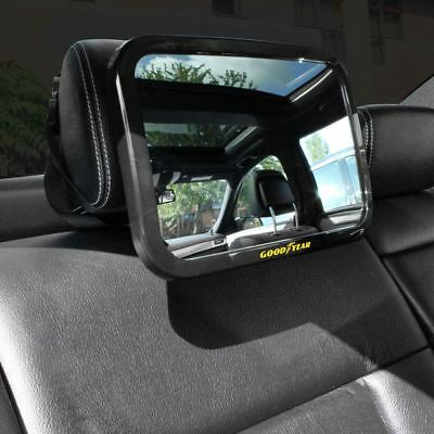 Adjustable Rear Baby Child Back Seat Car Safety Mirror Headrest Wide Angle View
