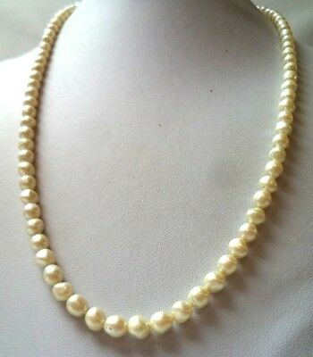 "Stunning Vintage Estate Faux Pearl Beaded 24"" Necklace!!! 1187J"