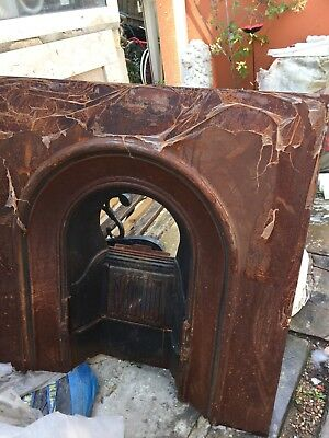 Old Cast Iron Fireplace Fire victorian / Edwardian ?
