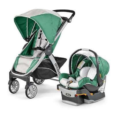 Chicco Bravo Trio Removable Seat Multi-Position Travel System, Empire (Open Box)