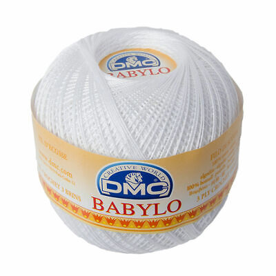 DMC Babylo 10 Crochet Cotton, 100g Ball, B5200 WHITE