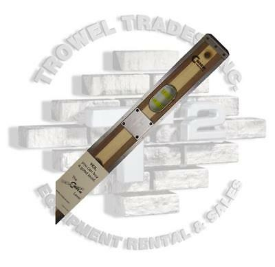 """CRICK LEVEL 3Ply Wood Masonry Level 48"""" With Bumpers, Scuff Plates & Green Vials"""