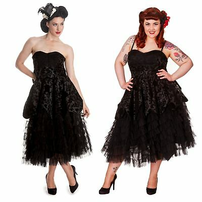 Hell Bunny Lavintage Dress Gothic Victorian Style Prom Dress PLUS SIZES XS - 4XL
