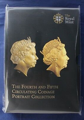 "2015 Royal Mint 8 coin Unc set ""5th Portrait"" in Folder - Sealed    (C8/106)"