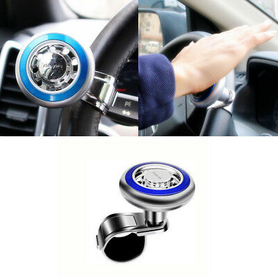 Quick Steering Wheel Ball Suicide Knob Power Spinner for Car Boat Marine Blue