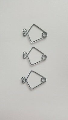 Pack 10 - Silver Metal Suspended Ceiling Sign Hangers - Shop / Office