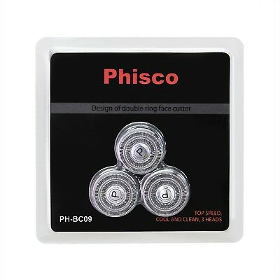 Phisco Shaver Replacement Head Blade Cutters 3 Pcs for Phisco Electric Shaver