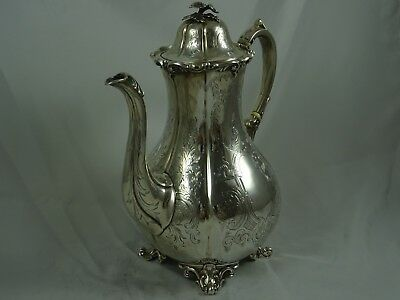 VINTAGE, VICTORIAN solid silver COFFEE POT, 1853, 880gm