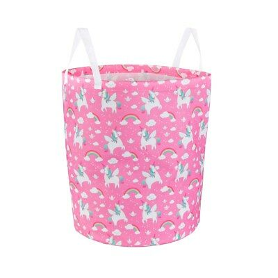 Rainbow Unicorn Style Storage Bag Laundry Basket Pink Sass & Belle With Handles