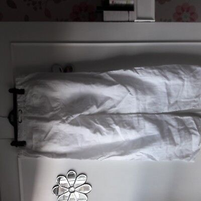 Maternity White Size 12 Linen Wide Leg Trousers From Mama And Papa