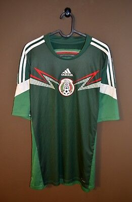 on sale fd5fb 9bd6e MEXICO SOCCER FOOTBALL Jersey Shirt 2014 World Cup Home L Adidas Mexican Vtg