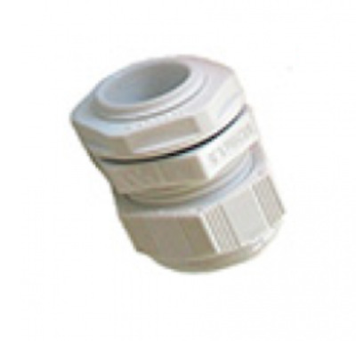 10x Avenue Cable Dome Gland 20mm IP68 Polyamide c/w Locknut White Large Aperture