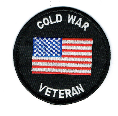 "US MILITARY ""COLD WAR VETERAN"" PATCH  Iron / Sew-on 3 inch patch"