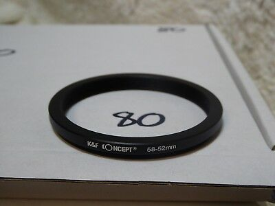 52mm-58mm 52mm to 58mm 52-58 Filter Ring Adapter - Step up / Stepping