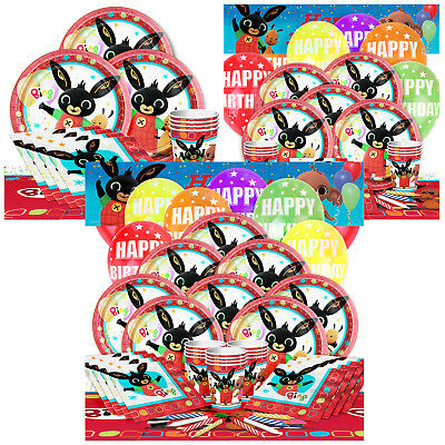 Bing Kids Birthday Party Packs Tableware Kits - For 8 or 16 Guests