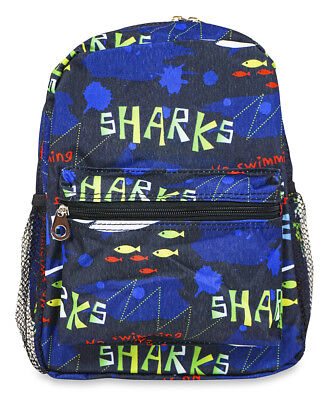 Jenzys Boys Kids Shark Mini Toddler Backpack Bag For Preschool or Kindergarten