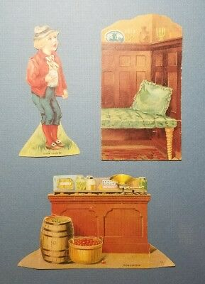 Lot of 3 Late 1800's Antique Lion Coffee Advertisement Trading Card Paper Dolls