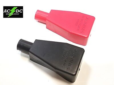 Top Post Battery Terminal FLEXIBLE PVC Boot Cover 2pk Red / Black FITS 2 AWG