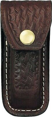 Brown Leather Belt Pouch Sheath For Large Swiss Army Knives SH248 Snap Closure