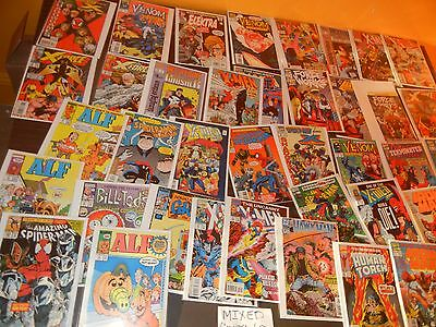 Lot of 40 Mixed Dell Marvel DC Comic Silver Bronze Age Disney Super Hero Comics