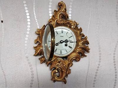 Stunning Rococo Gilt Ormolu Ting Tang Wall Clock By Mauthe Ex. Cond And Working