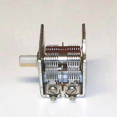 LO-COST H.QUAL 2 section VARIABLE air capacitor vacuum tube AM radio W/ TRIMMERS