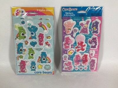 New Care Bear Stickers 4 Sheets Total Grumpy Always There Good Luck
