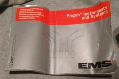 Piezon Operation Instructions for EMS Electro Medical Systems