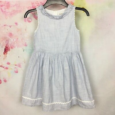 Next Girls Summer/Holiday Dress Age 8 Years Light Blue Cotton