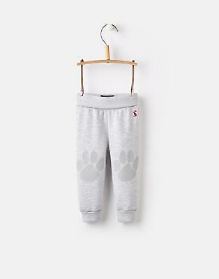 Joules 124726 Baby Boys Applique Novelty Knee Trousers in Grey Marl